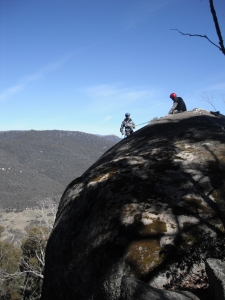 Abseiling in Namadgi National Park